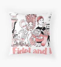 Fidel and I Throw Pillow