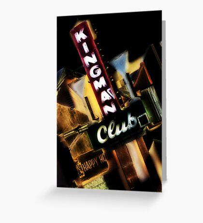 kingman club, route 66, kingman, arizona Greeting Card