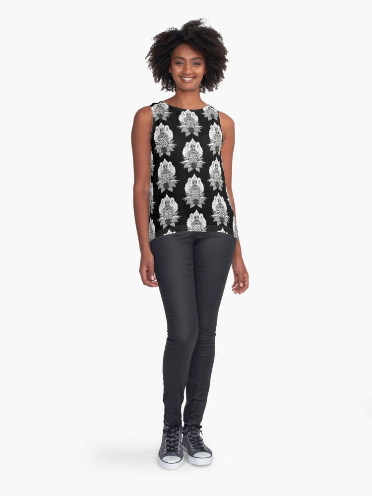 Alternate view of Zebra & Jungle Leaves Sleeveless Top