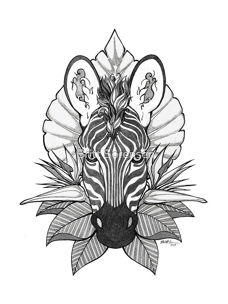 Zebra & Dschungel Blätter von brittja