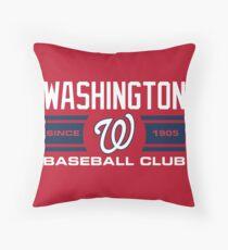 Washington Nationals Baseball Club Throw Pillow