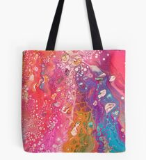 Rainbow River Abstract Tote Bag
