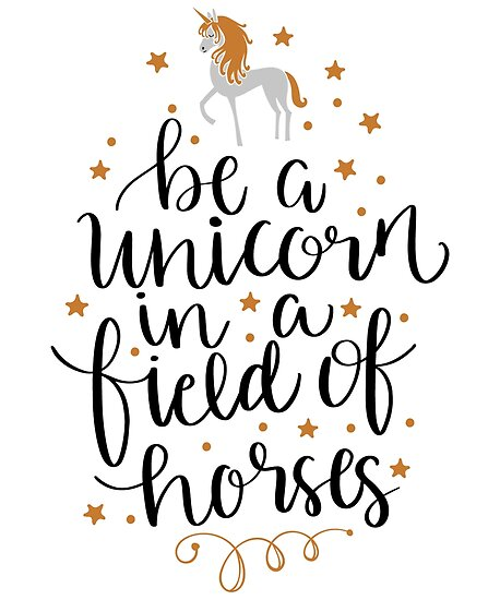 It is a graphic of Revered Be a Unicorn in a Field of Horses Free Printable