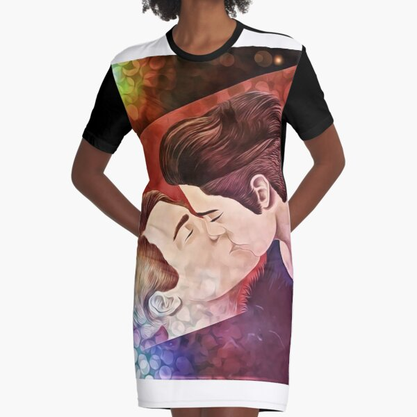 Chase and Terrence Graphic T-Shirt Dress