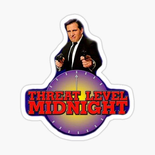 threat level midnight office Sticker