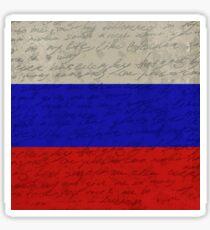 Vintage flag - Russia Sticker