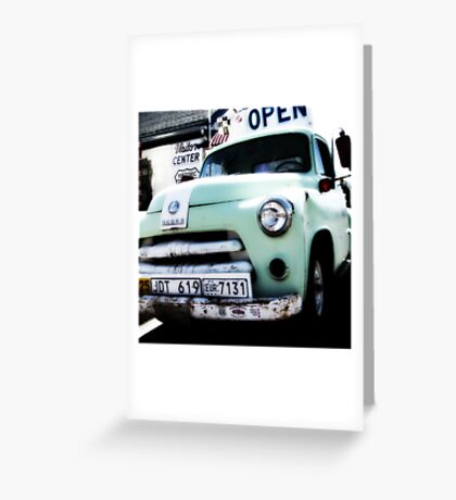 old dodge truck, route 66, seligman, arizona Greeting Card