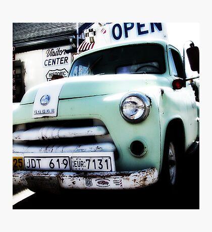 old dodge truck, route 66, seligman, arizona Photographic Print