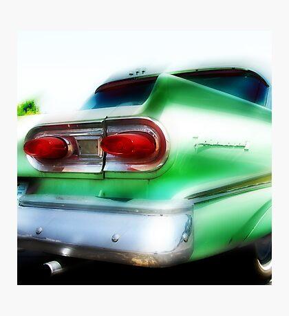 green ford fairlane, route 66, oklahoma city, oklahoma Photographic Print