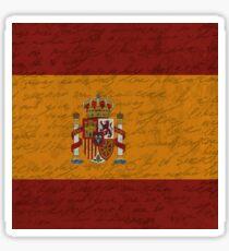 Vintage flag - Spain Sticker