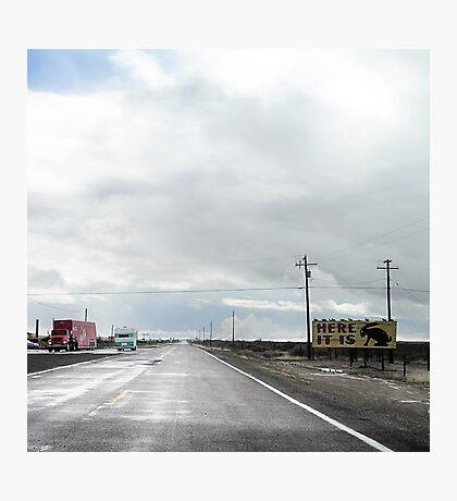 here it is too, route 66, jack rabbit junction, arizona Photographic Print