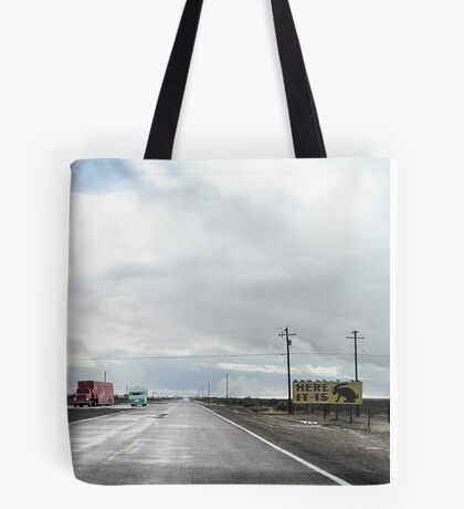 here it is too, route 66, jack rabbit junction, arizona Tote Bag