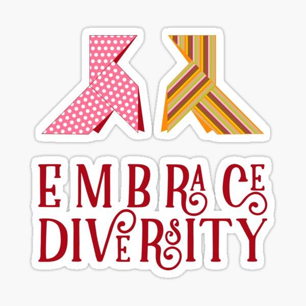 Embrace Diversity Pegatina
