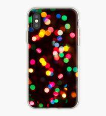 Vinilo o funda para iPhone Bokeh - Funda de iPhone de luz de Navidad