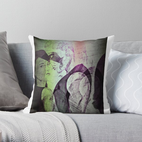 Cecilia and Tyreese Throw Pillow