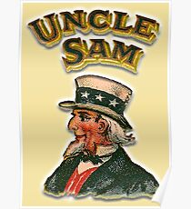UNCLE SAM, Vintage, Advertising Image, America, American, USA, US Poster