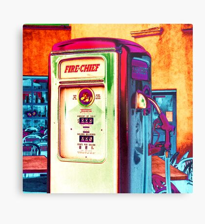 fire chief, route 66, albuquerque, new mexico Metal Print