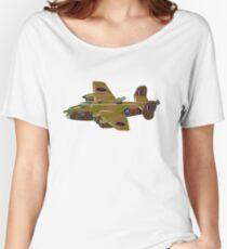 Cartoon retro bomber Women's Relaxed Fit T-Shirt