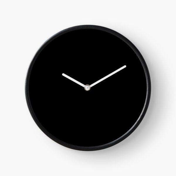 color black Clock