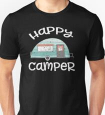 Happy Camper Retro Trailer RV Caravan Camping T-Shirt