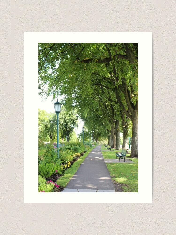 Alternate view of Summer walk Art Print