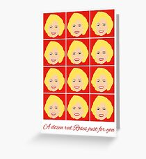 Golden Girls - Rose - Valentines Card Greeting Card