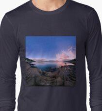 Dusk Shoreline near Moville, Donegal (Rectangular) Long Sleeve T-Shirt