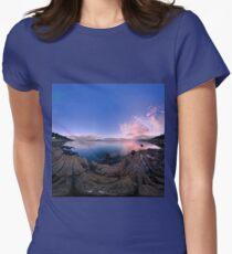 Dusk Shoreline near Moville, Donegal (Rectangular) Women's Fitted T-Shirt
