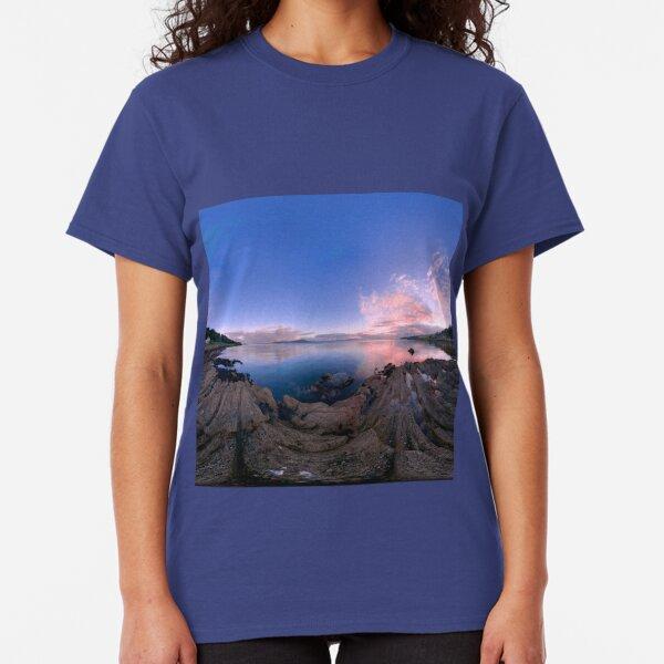 Dusk Shoreline near Moville, Donegal (Rectangular) Classic T-Shirt