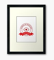 School of Awkward, Class President for funny introverts, geeks and nerds Framed Print