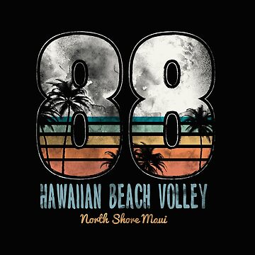 Retro Hawaiian Beach Volleyball Sports by GarnetLeslie