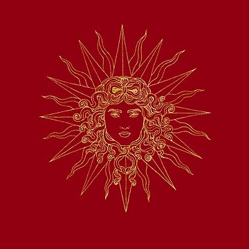 Sun amblem red/gold by milankovacevic