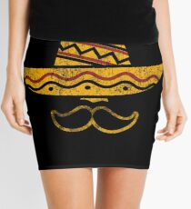 Cinco De Mayo Party Mustache Mexican Hat Funny T Shirt Tee Mini Skirt