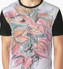 Colored Pencil Flowers Graphic T-Shirt