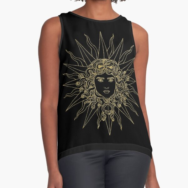 Sun amblem black/gold Sleeveless Top