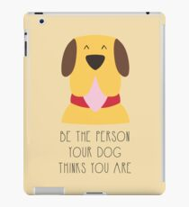 Listen your dog iPad Case/Skin