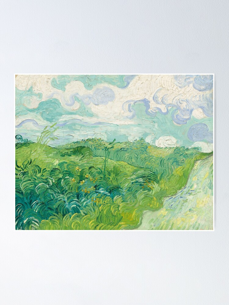 Alternate view of Vincent van Gogh Green Wheat Fields, Auvers 1890 Painting Poster