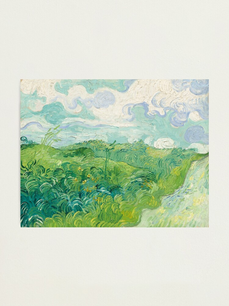 Alternate view of Vincent van Gogh Green Wheat Fields, Auvers 1890 Painting Photographic Print