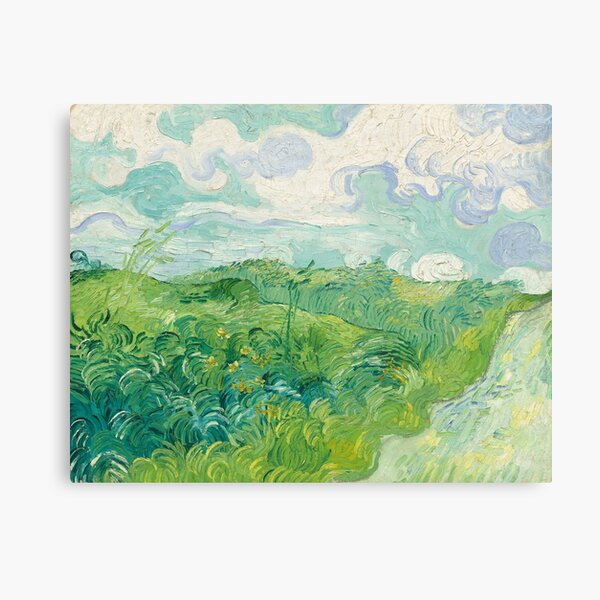 Vincent van Gogh Green Wheat Fields, Auvers 1890 Painting Canvas Print