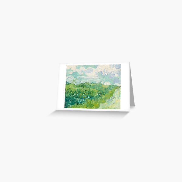 Vincent van Gogh Green Wheat Fields, Auvers 1890 Painting Greeting Card