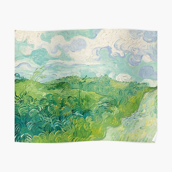 Vincent van Gogh Green Wheat Fields, Auvers 1890 Painting Poster