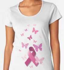 Breast Cancer Pink Awareness Ribbon Women's Premium T-Shirt