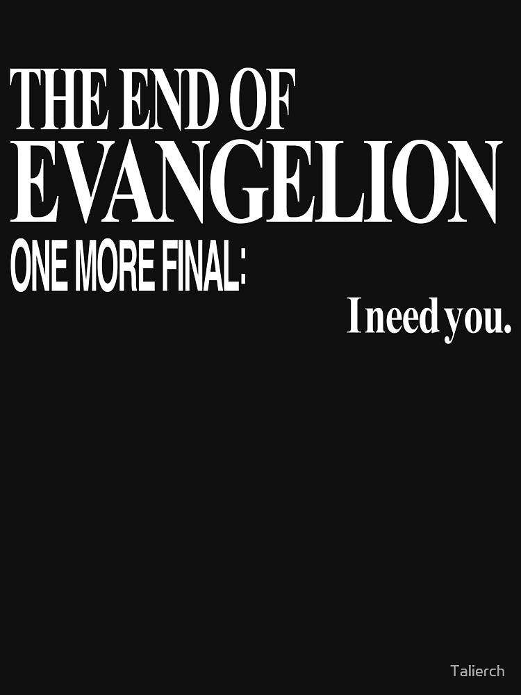 Neon Genesis Evangelion - I need you. by Talierch