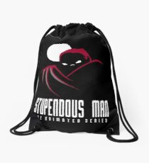 Stupendous Man The Animated Series Drawstring Bag