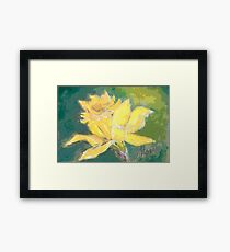Retro Comic Daffodil Framed Print