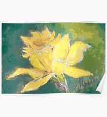 Retro Comic Daffodil Poster