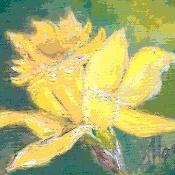 Retro Comic Daffodil by artistshoshanna