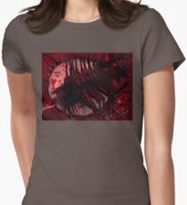Crimson Spaceship Womens Fitted T-Shirt