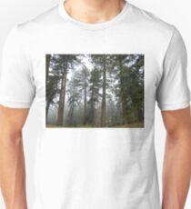 misty pines forest Unisex T-Shirt