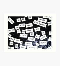 Magnetic Poetry  Art Print